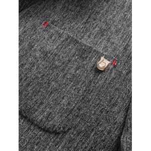 Lapel Collar One Button Space Dyed Blazer -