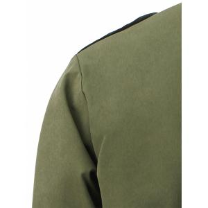 Cover Placket Zip Up Manteau léger -