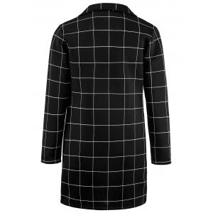 Single Breasted Checked Longline Coat -