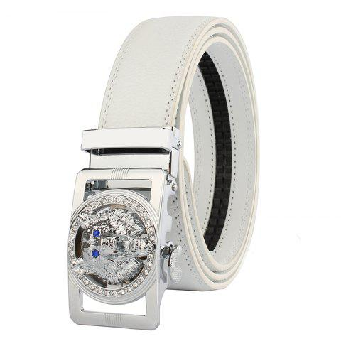Buy Rhinestone Alloy Wolf Carving Automatic Buckle Belt