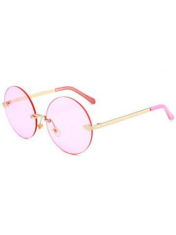 Rounded Jelly Lens Rimless Lunettes de soleil