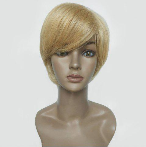 Oblique Bang Short Straight Hair Hair Wig