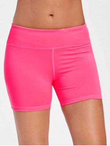 Chic Gym Stretch Tight Shorts with Pocket