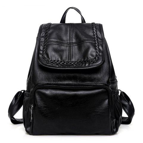Fancy Braid PU Leather Backpack
