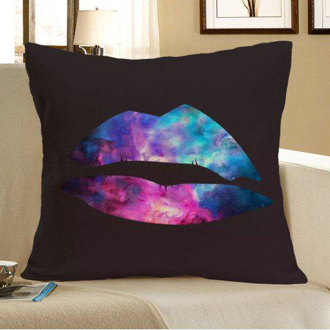 Outfit Colorful Lip Printed Linen Throw Pillow Case - W18 INCH * L18 INCH COLORFUL Mobile
