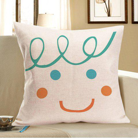 Hot Smile Face Patterned Throw Pillow Case - W18 INCH * L18 INCH COLORFUL Mobile