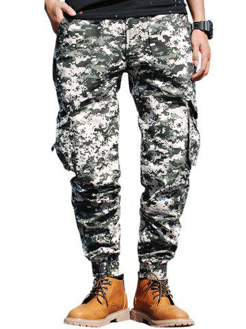 Latest Beam Feet Flap Pockets Camouflage Cargo Pants - 38 GREEN Mobile