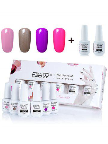 Elite99 UV LED Gel Nail Polish Manicure Kit 4 couleurs Set