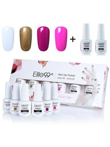Elite99 6Pcs Laque UV LED Soak Off Gel Ensemble de vernis à ongles
