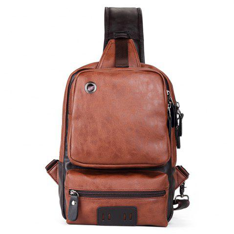 Buy Faux Leather Eyelet Crossbody Bag - COFFEE  Mobile