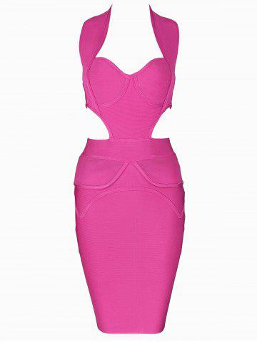 Trendy Cut Out Sweetheart Neck Bandage Dress
