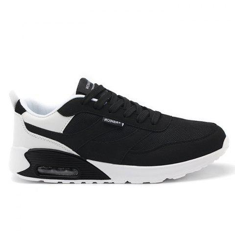Trendy Lightweight Breathable Mesh Jogging Sports Sneakers - 40 BLACK Mobile