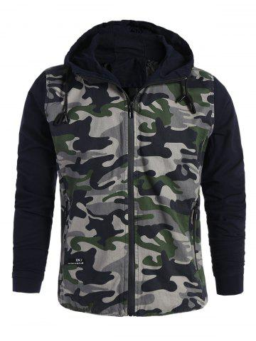 Fancy Mens Camo Hooded Jacket