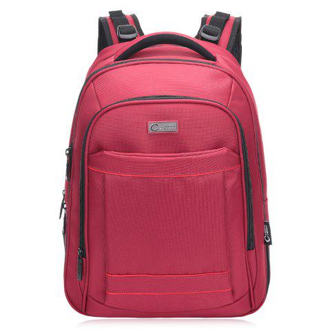 Latest Mesh Panel Multifunctional Laptop Backpack RED VERTICAL
