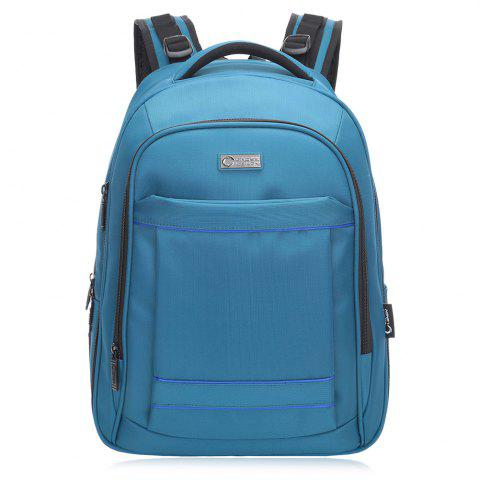Outfits Mesh Panel Multifunctional Laptop Backpack - VERTICAL BLUE Mobile
