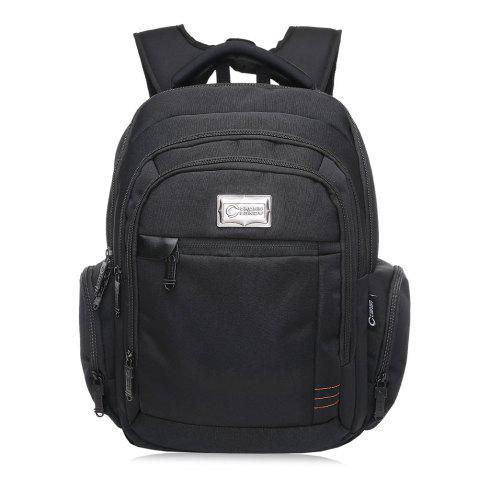 Sale Multi Zippers Top Handle Laptop Backpack BLACK VERTICAL