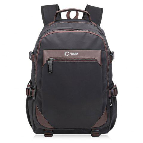 Latest Multi Buckles Contrast Color Laptop Backpack - VERTICAL BLACK Mobile