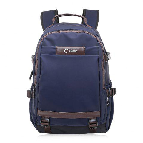 Hot Contrast Color Top Handle Laptop Backpack BLUE VERTICAL