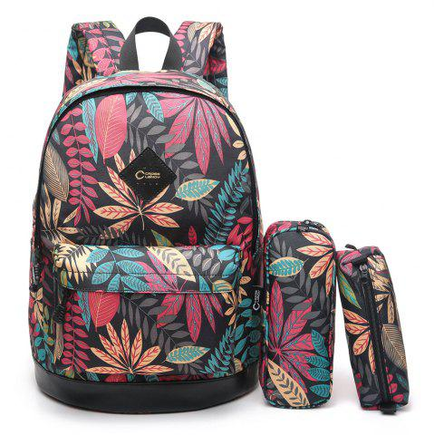 Chic Pencil Bags and Padded Strap Backpack - VERTICAL COLORMIX Mobile