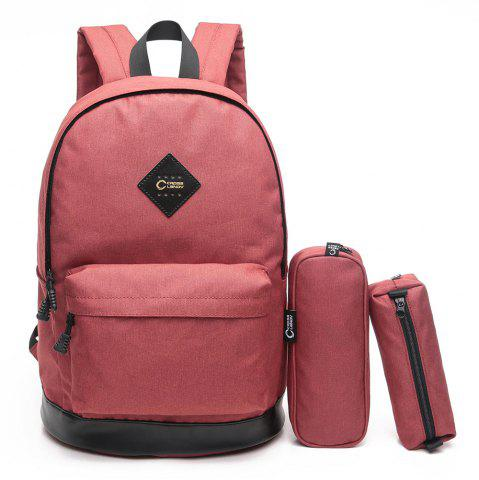 Shop Pencil Bags and Padded Strap Backpack - VERTICAL RED Mobile