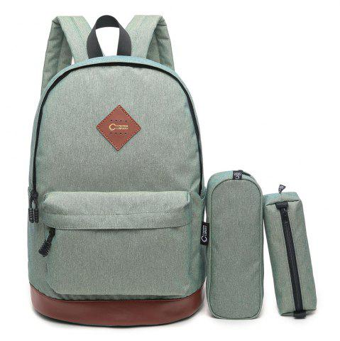 Best Pencil Bags and Padded Strap Backpack PALE GREEN VERTICAL