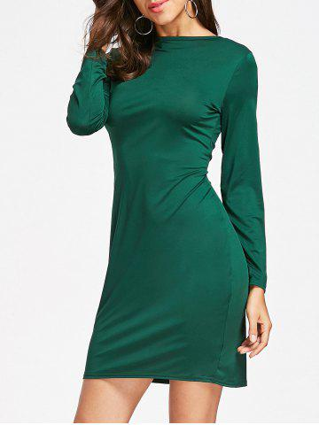 Chic Full Zip Long Sleeve Pencil Dress