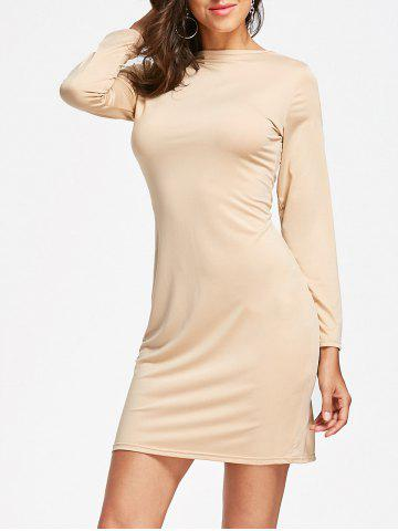 Outfits Full Zip Long Sleeve Pencil Dress