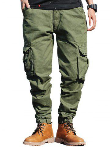 Poches Zip Fly Beam Feet Cargo Pants