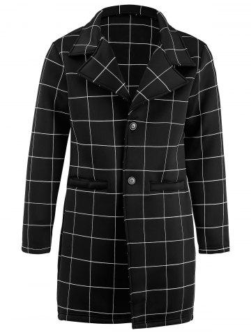 Latest Single Breasted Checked Longline Coat