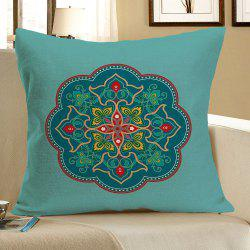Linen Bohemia Floral Pattern Pillow Case - COLORFUL W18 INCH * L18 INCH