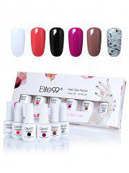Elite99 6 Colors LED UV Soak Off Gel Nail Polish Set -