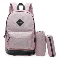 Pencil Bags and Padded Strap Backpack - VIOLET VERTICAL