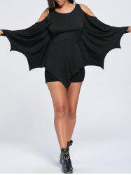 Halloween Cold Shoulder Batwing T-shirt -
