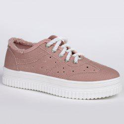Lace Up Hollow Out Canvas Shoes -