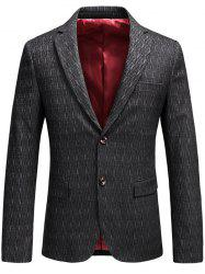Lapel Collar Single Breasted Business Blazer -