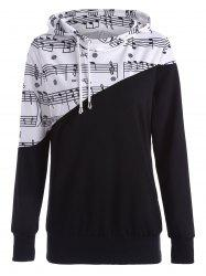 Two Tone Music Note Hoodie -