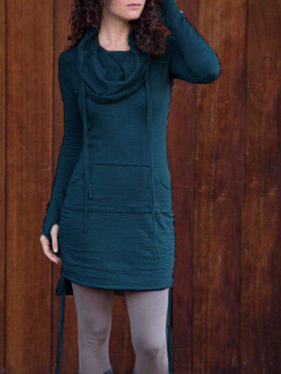 Latest Drawstring Long Sleeve Hoodie Dress