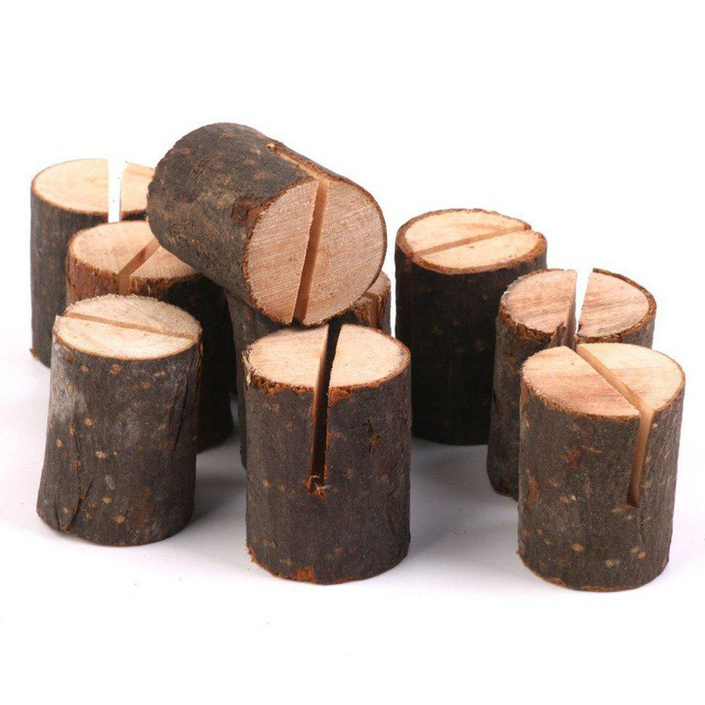 10 Pcs Wooden Table Number HoldersHOME<br><br>Color: BROWN; Candle Type: Wood Crafts; Use: Wedding Decoration &amp; Gift; Material: Wood; Weight: 0.1820kg; Package Contents: 10 x Table Number Holders (Pcs);
