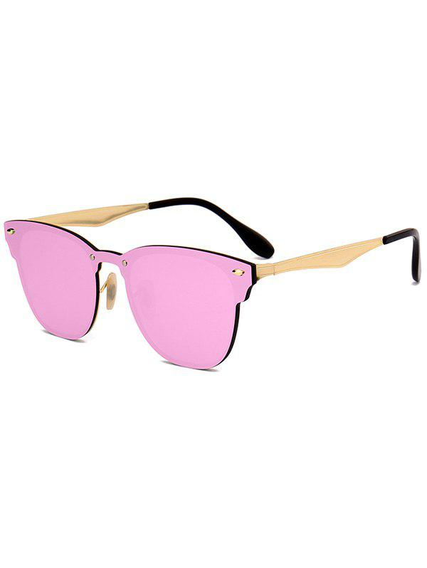 Fashion Mirror Metallic Wayfarer Sunglasses