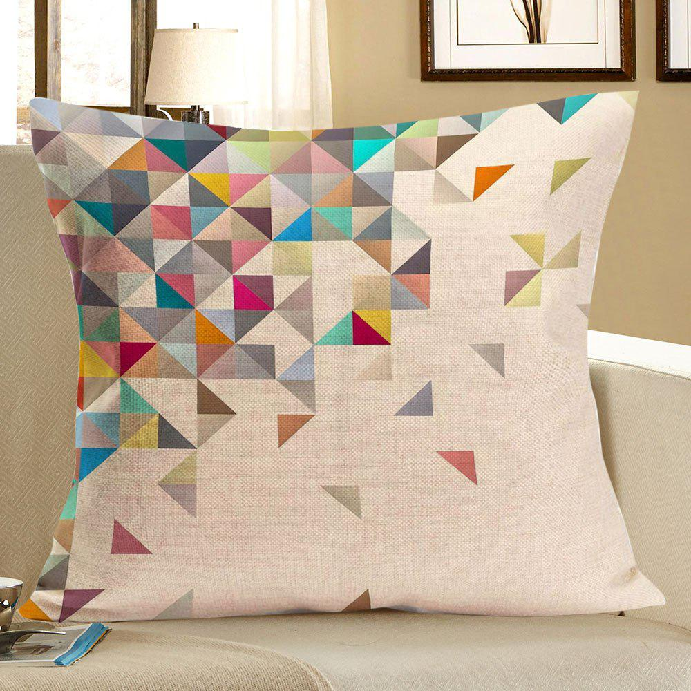 Home Decor Geometric Printed Linen Pillow CaseHOME<br><br>Size: W18 INCH * L18 INCH; Color: COLORFUL; Material: Linen; Fabric Type: Linen; Pattern: Geometric; Style: Modern/Contemporary; Shape: Square; Size(CM): 45 x 45; Weight: 0.0700kg; Package Contents: 1 x Pillow Case;