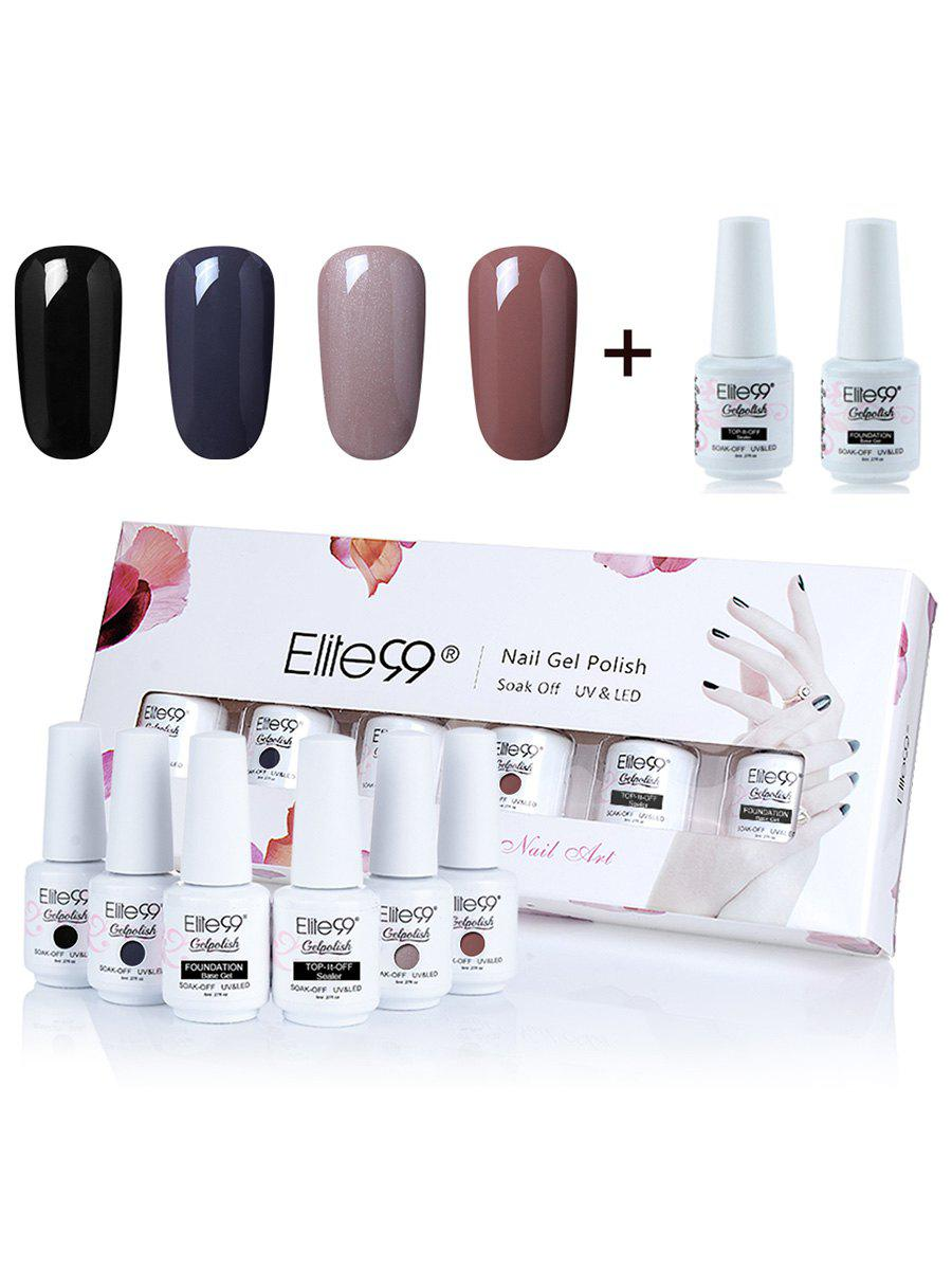 Elite99 4 Deep Colors UV LED Soak Off Gel Nail Polish SetBEAUTY<br><br>Color: #01; Net Weight: 8ml*6; Type: Gel Polish; Product weight: 0.2000 kg; Package weight: 0.3000 kg; Product Size  ( L x W x H ): 1.00 x 1.00 x 1.00 cm / 0.39 x 0.39 x 0.39 inches; Package Size ( L x W x H ): 1.00 x 1.00 x 1.00 cm / 0.39 x 0.39 x 0.39 inches; Package Content: 4 x Colour Gel(Pieces) 2 x Top/Base Coat(Pieces);