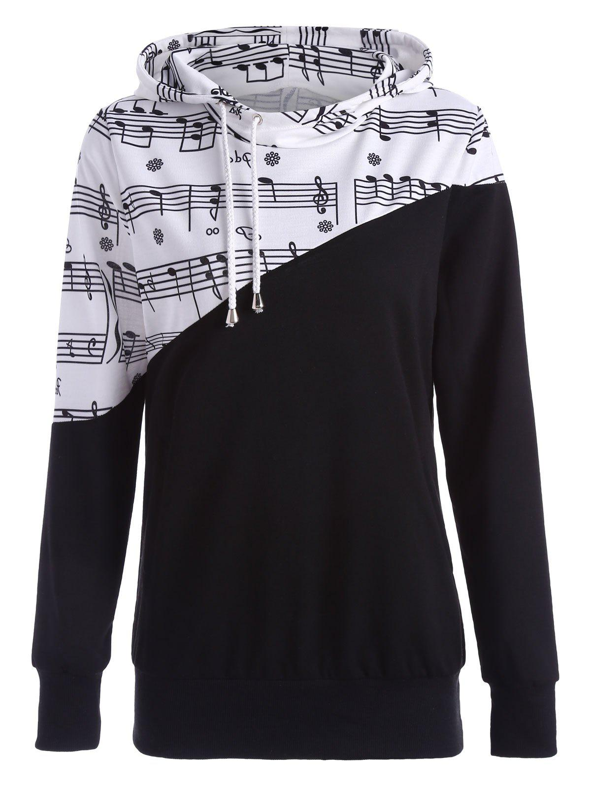 Shops Two Tone Music Note Hoodie