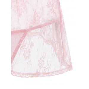 Lace Insert See Through Babydoll -