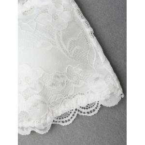 Lace Scalloped Tube Bra - WHITE ONE SIZE