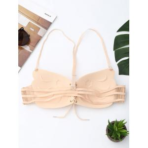 Full Coverage Lace Up Bra - COMPLEXION CUP C