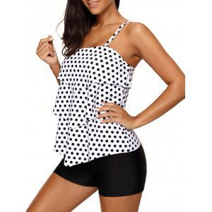 Polka Dot Tiered Tankini Set -