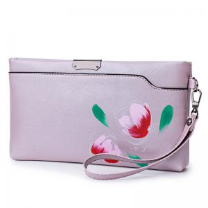 PU Leather Hand Painted Wristlet Bag -