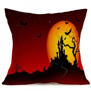Halloween Blood Starry Moon Castle Printed Pillow Case - COLORFUL W18 INCH * L18 INCH