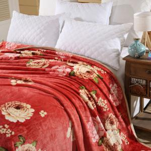 Peony Bedroom Soft Floral Blanket - Anko- rouge Double