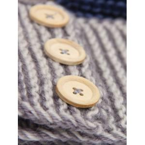 Crochet Warm Button Bande élastique - Gris